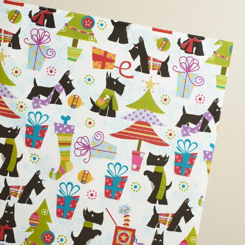 Jumbo Scottie Wrapping Paper Roll