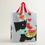 Medium Scottie and Bird Gift Bag