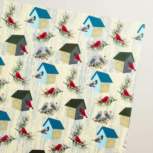 Bird Houses Wrapping Paper Roll