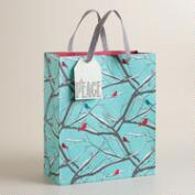 Large Blue Snowbirds Gift Bag