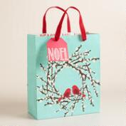 Medium Birds in Wreath Gift Bag
