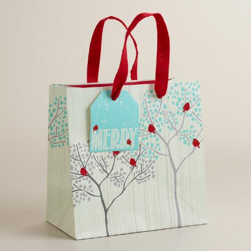 Small Snowbird in Trees Gift Bag