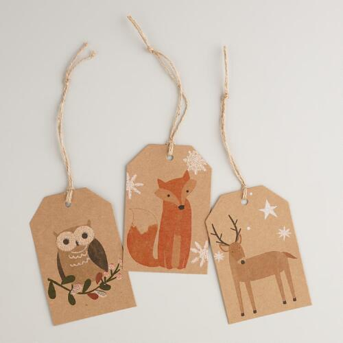 Woodland Animals Gift Tags - Set of 6