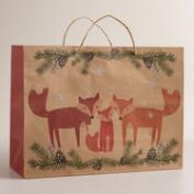 Large Woodland Fox Family Gift Bag