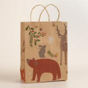 Medium Woodland Bunny and Bear Gift Bag