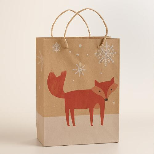 Medium Woodland Fox Gift Bag