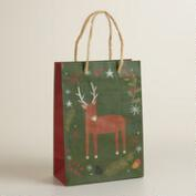 Small Woodland  Reindeer and Fox Gift Bag