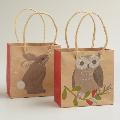 Mini Woodland Friends Gift Bags, Set of 2