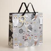 Large Owl Winter Soiree Gift Bag