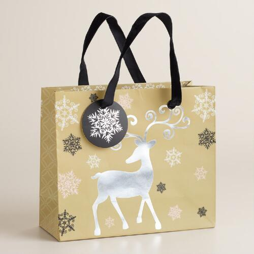 Small Reindeer Winter Soiree Gift Bag