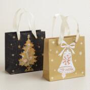 Mini Bell and Tree Winter Soiree Gift Bags, Set of 2