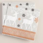Woodland Winter Soiree Lunch Napkins, 16-Count