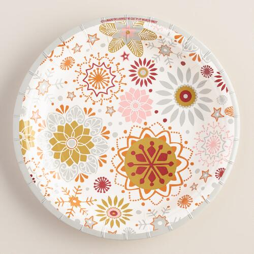 Winter Soiree Paper Plates, 8-Count