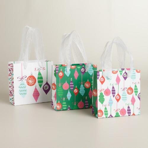 Mini Ornaments Value Gift Bags, Set of 3