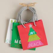 Mini Bright Value Gift Bags, Set of 3
