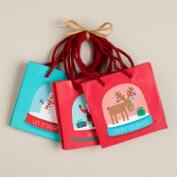 Mini Snow Globes Value Gift Bags, Set of 3