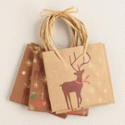 Mini Kraft Animals Value Gift Bags, Set of 3