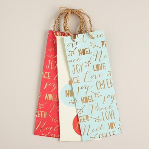 Greetings Value Wine Gift Bags, Set of 3
