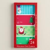 Kids' Holiday Gift Labels, 24-Pack