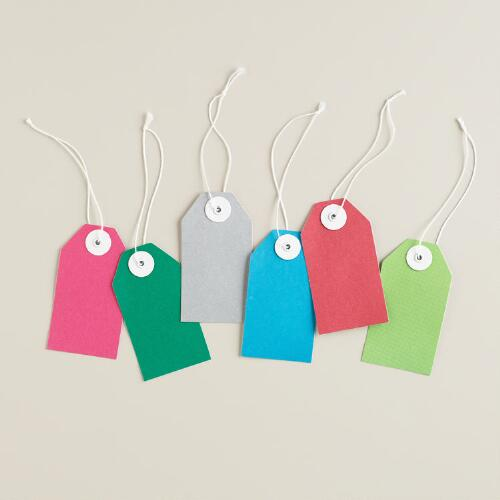 Bright Colors Gift Tags, Set of 6