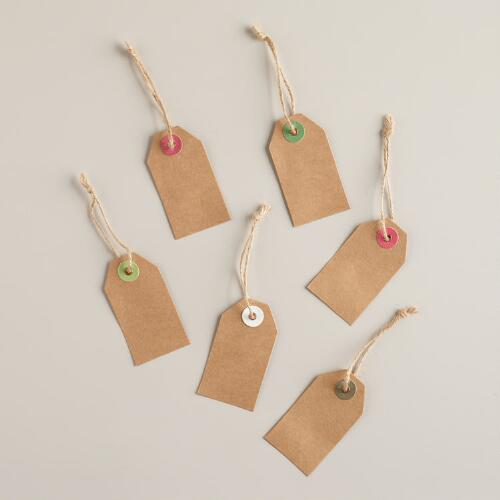 Solid Kraft Gift Tags, Set of 12