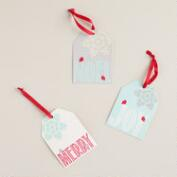 Merry, Joy and Noel Gift Tags, Set of 6