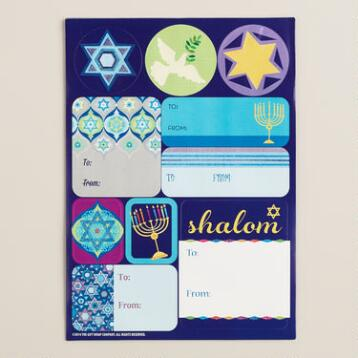 Festival of Seals Hanukkah Gift Labels, 30-Count