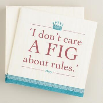 Downton Abbey Fig Beverage Napkins, 16 count