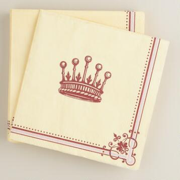 Downton Abbey Crown Beverage Napkins, 16 count