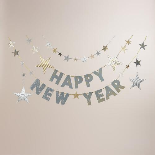 Happy New Year Confetti Garland