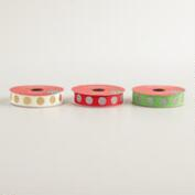 Glittered Dot Grosgrain Ribbon, 3-Pack