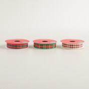 Plaid Ribbon, 3-Pack