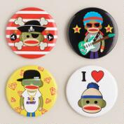 Sock Monkey Buttons
