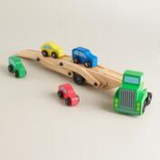 Melissa and Doug Car Carrier Truck and Cars Wooden Toy Set