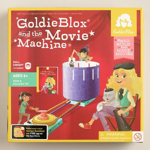 GoldieBlox and the Movie Machine Book and Building Set
