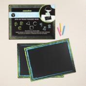 Chalkboard Placemats Set