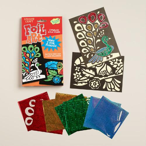 Bird Foil Art Sticker Craft Kit