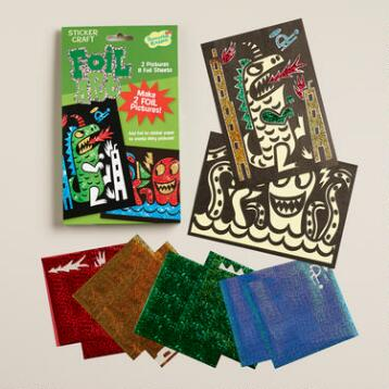 Beasts Foil Art Sticker Craft Kit