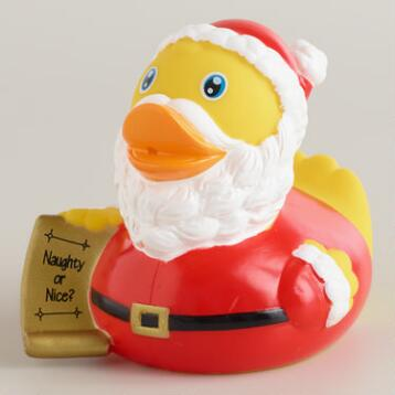 Santa Christmas List Rubber Duck Bath Toy