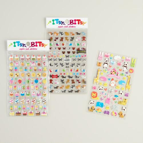 Itsy Bitsy Stickers, Set of 3
