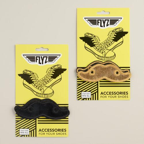 Mustache Shoe Accessories, Set of 2