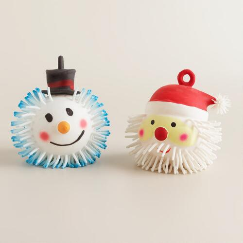 Christmas Puffer Balls, Set of 2