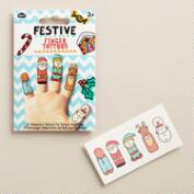 Holiday Finger Tattoos