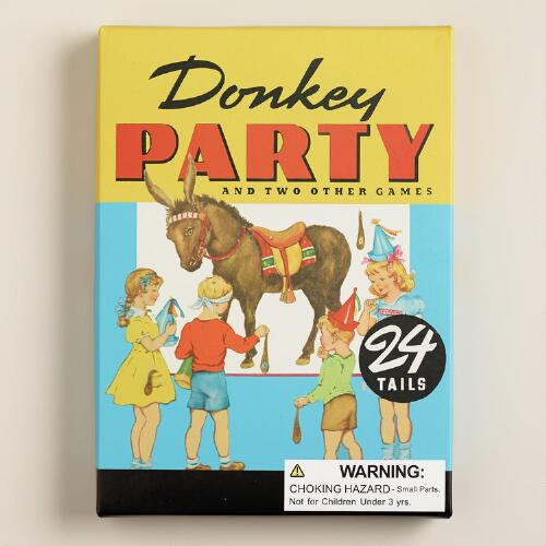 Retro Pin the Tail on the Donkey Game