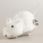White Wind-Up Mouse
