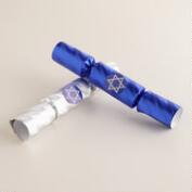 Blue and Silver Hanukkah Crackers, 8-Count