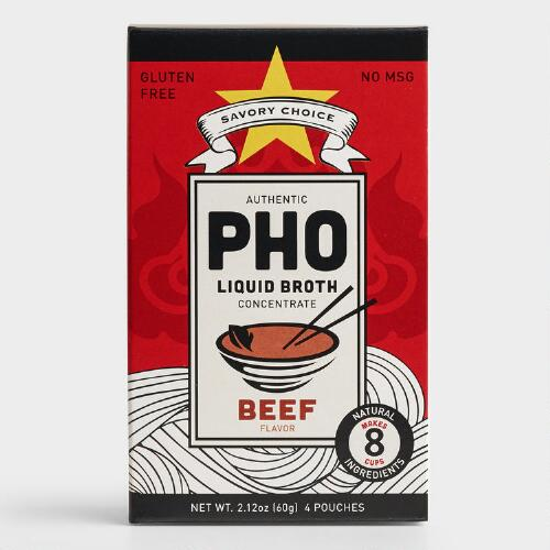 Savory Choice Pho Beef Broth, Set of 12