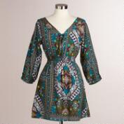 Teal Patchwork Vera Tunic Top