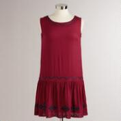 Wine and Navy Tribal Trim Callie Dress