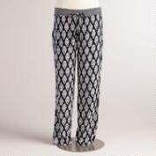 Black Ikat Lexi Soft Pants